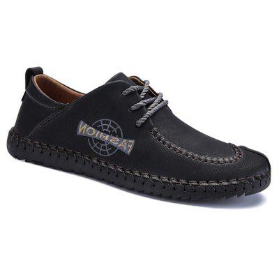 Men Classic Stitching Crash Toe Casual Oxford Shoes