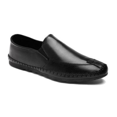 Men Simple British Stitching Casual Flat Loafers
