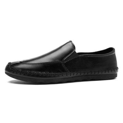 Men Simple British Stitching Casual Flat LoafersFlats &amp; Loafers<br>Men Simple British Stitching Casual Flat Loafers<br><br>Closure Type: Slip-On<br>Contents: 1 x Pair of Shoes, 1 x Box<br>Function: Slip Resistant<br>Lining Material: Mesh<br>Materials: Microfiber Leather, Rubber, Mesh<br>Occasion: Tea Party, Party, Holiday, Casual, Shopping, Daily, Dress<br>Outsole Material: Rubber<br>Package Size ( L x W x H ): 30.00 x 20.00 x 10.00 cm / 11.81 x 7.87 x 3.94 inches<br>Package weight: 0.6500 kg<br>Pattern Type: Solid<br>Product weight: 0.6000 kg<br>Seasons: Autumn,Spring<br>Style: Modern, Leisure, Fashion, Comfortable, Casual, Business<br>Toe Shape: Round Toe<br>Type: Flat Shoes<br>Upper Material: Microfiber Leather