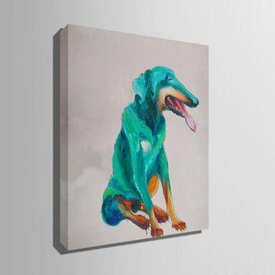 E - HOME Decorative Unframed Green Dog Oil PaintingOil Paintings<br>E - HOME Decorative Unframed Green Dog Oil Painting<br><br>Brand: E-HOME<br>Craft: Oil Painting<br>Form: One Panel<br>Material: Canvas<br>Package Contents: 1 x Oil Painting<br>Package size (L x W x H): 45.00 x 5.00 x 5.00 cm / 17.72 x 1.97 x 1.97 inches<br>Package weight: 0.3500 kg<br>Painting: Without Inner Frame<br>Product size (L x W x H): 35.00 x 50.00 x 0.20 cm / 13.78 x 19.69 x 0.08 inches<br>Product weight: 0.1500 kg<br>Shape: Vertical<br>Style: Modern / Contemporary<br>Subjects: Animal<br>Suitable Space: Bedroom,Dining Room,Living Room