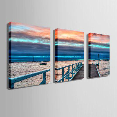 E - HOME Unframed Bridgehead Scenery Canvas Print 3pcsPrints<br>E - HOME Unframed Bridgehead Scenery Canvas Print 3pcs<br><br>Brand: E-HOME<br>Craft: Print<br>Form: Three Panels<br>Material: Canvas<br>Package Contents: 3 x Print<br>Package size (L x W x H): 50.00 x 5.00 x 5.00 cm / 19.69 x 1.97 x 1.97 inches<br>Package weight: 0.4000 kg<br>Painting: Without Inner Frame<br>Product size (L x W x H): 40.00 x 60.00 x 0.20 cm / 15.75 x 23.62 x 0.08 inches<br>Product weight: 0.2400 kg<br>Shape: Vertical<br>Style: Modern/Contemporary<br>Subjects: Landscape<br>Suitable Space: Bedroom,Dining Room,Living Room