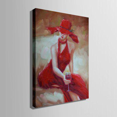 E - HOME Decorative Unframed Lady in Red Oil PaintingOil Paintings<br>E - HOME Decorative Unframed Lady in Red Oil Painting<br><br>Brand: E-HOME<br>Craft: Oil Painting<br>Form: One Panel<br>Material: Canvas<br>Package Contents: 1 x Oil Painting<br>Package size (L x W x H): 50.00 x 5.00 x 5.00 cm / 19.69 x 1.97 x 1.97 inches<br>Package weight: 0.4000 kg<br>Painting: Without Inner Frame<br>Product size (L x W x H): 40.00 x 60.00 x 0.20 cm / 15.75 x 23.62 x 0.08 inches<br>Product weight: 0.2000 kg<br>Shape: Vertical<br>Style: Modern / Contemporary<br>Subjects: People<br>Suitable Space: Bedroom,Dining Room,Living Room