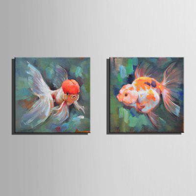 E - HOME Hand-drawn Goldfish Oil PaintingOil Paintings<br>E - HOME Hand-drawn Goldfish Oil Painting<br><br>Brand: E-HOME<br>Craft: Oil Painting<br>Form: One Panel<br>Material: Canvas<br>Package Contents: 1 x Oil Painting<br>Package size (L x W x H): 50.00 x 5.00 x 5.00 cm / 19.69 x 1.97 x 1.97 inches<br>Package weight: 0.3500 kg<br>Painting: Without Inner Frame<br>Product size (L x W x H): 40.00 x 40.00 x 0.20 cm / 15.75 x 15.75 x 0.08 inches<br>Product weight: 0.1500 kg<br>Shape: Square<br>Style: Modern Style<br>Subjects: Animal<br>Suitable Space: Bedroom,Cafes,Dining Room,Hallway,Hotel,Kids Room,Living Room,Office