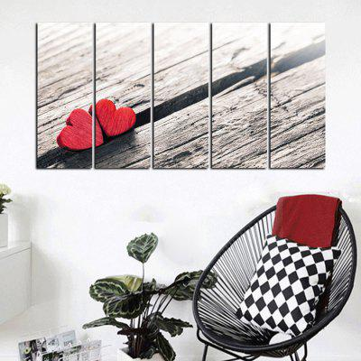 God Painting Two Close Heart PrintPrints<br>God Painting Two Close Heart Print<br><br>Brand: God Painting<br>Craft: Print<br>Form: Five Panels<br>Material: Canvas<br>Package Contents: 5 x Print<br>Package size (L x W x H): 42.00 x 6.00 x 6.00 cm / 16.54 x 2.36 x 2.36 inches<br>Package weight: 0.4800 kg<br>Painting: Without Inner Frame<br>Product weight: 0.4300 kg<br>Shape: Horizontal<br>Style: Modern Style<br>Subjects: Romance<br>Suitable Space: Bedroom,Cafes,Corridor,Dining Room,Hallway,Hotel,Kids Room,Living Room