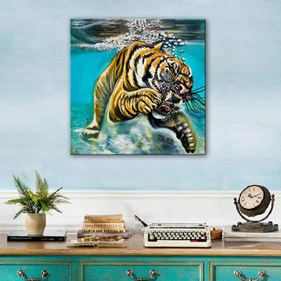 E - HOME Hand-drawn Tiger in Water Oil PaintingOil Paintings<br>E - HOME Hand-drawn Tiger in Water Oil Painting<br><br>Brand: E-HOME<br>Craft: Oil Painting<br>Form: One Panel<br>Material: Canvas<br>Package Contents: 1 x Oil Painting<br>Package size (L x W x H): 50.00 x 5.00 x 5.00 cm / 19.69 x 1.97 x 1.97 inches<br>Package weight: 0.3500 kg<br>Painting: Without Inner Frame<br>Product size (L x W x H): 40.00 x 40.00 x 0.20 cm / 15.75 x 15.75 x 0.08 inches<br>Product weight: 0.1500 kg<br>Shape: Square<br>Style: Modern Style<br>Subjects: Animal<br>Suitable Space: Bedroom,Dining Room,Hallway,Hotel,Kids Room,Living Room,Office