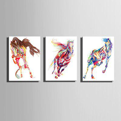 E - HOME Hand-drawn Fine Horse Oil PaintingOil Paintings<br>E - HOME Hand-drawn Fine Horse Oil Painting<br><br>Brand: E-HOME<br>Craft: Oil Painting<br>Form: One Panel<br>Material: Canvas<br>Package Contents: 1 x Oil Painting<br>Package size (L x W x H): 45.00 x 5.00 x 5.00 cm / 17.72 x 1.97 x 1.97 inches<br>Package weight: 0.3500 kg<br>Painting: Without Inner Frame<br>Product size (L x W x H): 35.00 x 50.00 x 0.20 cm / 13.78 x 19.69 x 0.08 inches<br>Product weight: 0.1500 kg<br>Shape: Vertical<br>Style: Modern Style<br>Subjects: Animal<br>Suitable Space: Bedroom,Cafes,Dining Room,Hallway,Hotel,Kids Room,Living Room,Office