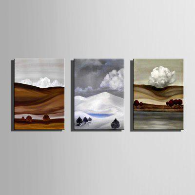 E - HOME Hand-drawn Mountain Oil PaintingOil Paintings<br>E - HOME Hand-drawn Mountain Oil Painting<br><br>Brand: E-HOME<br>Craft: Oil Painting<br>Form: One Panel<br>Material: Canvas<br>Package Contents: 1 x Oil Painting<br>Package size (L x W x H): 45.00 x 5.00 x 5.00 cm / 17.72 x 1.97 x 1.97 inches<br>Package weight: 0.3500 kg<br>Painting: Without Inner Frame<br>Product size (L x W x H): 35.00 x 50.00 x 0.20 cm / 13.78 x 19.69 x 0.08 inches<br>Product weight: 0.1500 kg<br>Shape: Vertical<br>Style: Modern Style<br>Subjects: Landscape<br>Suitable Space: Bedroom,Cafes,Corridor,Dining Room,Hallway,Hotel,Kids Room,Living Room,Office