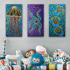 E - HOME Single Canvas Marine Animal Decoratief Schilderen - # 03