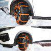 Tire Chains Anti-slip Snow Mud Sand for Car Truck 2PCS - BRIGHT ORANGE