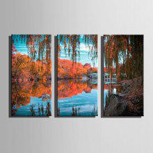 E-HOME Canvas Lake View Hanging Wall Art coupons