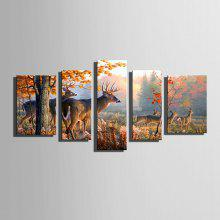 E-HOME Canvas Prints Deer Hanging Wall Art coupons