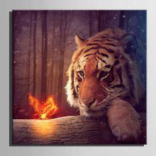 E-HOME LED Prints Tiger Canvas Wall Art coupons