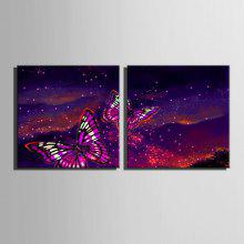 E-HOME LED Luminous Prints Butterfly Wall Art coupons
