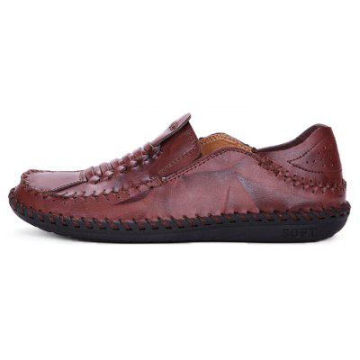 Men Vintage Soft Knitted Stitching Casual Oxford ShoesMen's Oxford<br>Men Vintage Soft Knitted Stitching Casual Oxford Shoes<br><br>Closure Type: Slip-On<br>Contents: 1 x Pair of Shoes, 1 x Box, 1 x Dustproof Paper<br>Decoration: Weave<br>Function: Slip Resistant<br>Materials: Rubber, Leather<br>Occasion: Tea Party, Shopping, Party, Office, Holiday, Daily, Casual<br>Outsole Material: Rubber<br>Package Size ( L x W x H ): 33.00 x 22.00 x 11.00 cm / 12.99 x 8.66 x 4.33 inches<br>Package weight: 0.8500 kg<br>Product weight: 0.7000 kg<br>Seasons: Autumn,Spring<br>Style: Modern, Leisure, Fashion, Comfortable, Casual, Business<br>Toe Shape: Round Toe<br>Type: Casual Leather Shoes<br>Upper Material: Leather