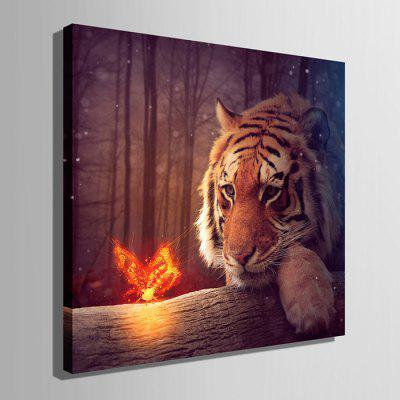 E - HOME LED Luminous Prints Tiger Canvas Wall ArtPrints<br>E - HOME LED Luminous Prints Tiger Canvas Wall Art<br><br>Brand: E-HOME<br>Craft: Print<br>Form: One Panel<br>Material: Canvas<br>Package Contents: 1 x Print<br>Package size (L x W x H): 45.00 x 45.00 x 6.00 cm / 17.72 x 17.72 x 2.36 inches<br>Package weight: 1.0000 kg<br>Painting: Without Inner Frame<br>Product size (L x W x H): 40.00 x 40.00 x 2.40 cm / 15.75 x 15.75 x 0.94 inches<br>Product weight: 0.8000 kg<br>Shape: Square<br>Style: Modern<br>Subjects: Animal<br>Suitable Space: Living Room