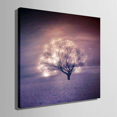E - HOME LED Luminous Prints Tree Canvas Wall ArtPrints<br>E - HOME LED Luminous Prints Tree Canvas Wall Art<br><br>Brand: E-HOME<br>Craft: Print<br>Form: One Panel<br>Material: Canvas<br>Package Contents: 1 x Print<br>Package size (L x W x H): 45.00 x 45.00 x 6.00 cm / 17.72 x 17.72 x 2.36 inches<br>Package weight: 1.0000 kg<br>Painting: Without Inner Frame<br>Product size (L x W x H): 40.00 x 40.00 x 2.40 cm / 15.75 x 15.75 x 0.94 inches<br>Product weight: 0.8000 kg<br>Shape: Square<br>Style: Modern<br>Subjects: Landscape<br>Suitable Space: Living Room