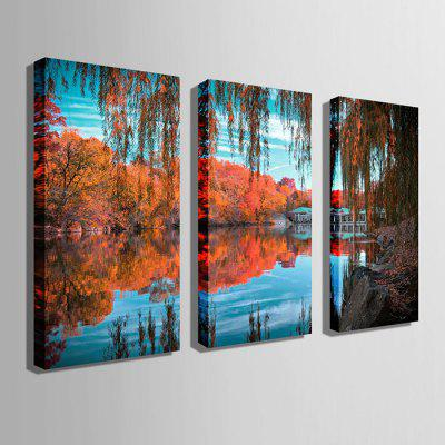 E - HOME Canvas Prints Lake View Hanging Wall Art 3PCSPrints<br>E - HOME Canvas Prints Lake View Hanging Wall Art 3PCS<br><br>Brand: E-HOME<br>Craft: Print<br>Form: Three Panels<br>Material: Canvas<br>Package Contents: 3 x Print<br>Package size (L x W x H): 50.00 x 5.00 x 5.00 cm / 19.69 x 1.97 x 1.97 inches<br>Package weight: 0.4300 kg<br>Painting: Without Inner Frame<br>Product size (L x W x H): 40.00 x 80.00 x 0.20 cm / 15.75 x 31.5 x 0.08 inches<br>Product weight: 0.3000 kg<br>Shape: Vertical<br>Style: Modern<br>Subjects: Landscape<br>Suitable Space: Living Room