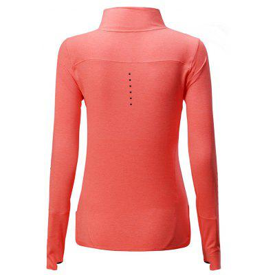 BARBOK Turtleneck Long Sleeves Sports T-shirtweight lifting clothes<br>BARBOK Turtleneck Long Sleeves Sports T-shirt<br><br>Features: Breathable, High elasticity, Quick Dry<br>Gender: Women<br>Material: Polyester, Spandex<br>Package Content: 1 x T-shirt<br>Package size: 36.00 x 27.00 x 2.00 cm / 14.17 x 10.63 x 0.79 inches<br>Package weight: 0.2500 kg<br>Product weight: 0.2100 kg<br>Types: Long Sleeves