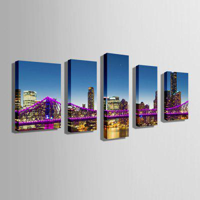 E - HOME Canvas Prints Cityscape Unframed Wall Art 5PCSPrints<br>E - HOME Canvas Prints Cityscape Unframed Wall Art 5PCS<br><br>Brand: E-HOME<br>Craft: Print<br>Form: Five Panels<br>Material: Canvas<br>Package Contents: 5 x Print<br>Package size (L x W x H): 50.00 x 5.00 x 5.00 cm / 19.69 x 1.97 x 1.97 inches<br>Package weight: 0.5000 kg<br>Painting: Without Inner Frame<br>Product weight: 0.3800 kg<br>Shape: Vertical<br>Style: Modern<br>Subjects: Landscape<br>Suitable Space: Living Room