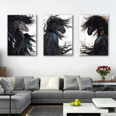E - HOME Decorative Unframed Horse Canvas Print 3pcsPrints<br>E - HOME Decorative Unframed Horse Canvas Print 3pcs<br><br>Brand: E-HOME<br>Craft: Print<br>Form: Three Panels<br>Material: Canvas<br>Package Contents: 3 x Print<br>Package size (L x W x H): 60.00 x 5.00 x 5.00 cm / 23.62 x 1.97 x 1.97 inches<br>Package weight: 0.5000 kg<br>Painting: Without Inner Frame<br>Product size (L x W x H): 50.00 x 70.00 x 0.20 cm / 19.69 x 27.56 x 0.08 inches<br>Product weight: 0.3000 kg<br>Shape: Vertical<br>Style: Modern/Contemporary<br>Subjects: Animal<br>Suitable Space: Bedroom,Dining Room,Living Room