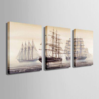 E - HOME Unframed Sailboat Canvas Print 3pcsPrints<br>E - HOME Unframed Sailboat Canvas Print 3pcs<br><br>Brand: E-HOME<br>Craft: Print<br>Form: Three Panels<br>Material: Canvas<br>Package Contents: 3 x Print<br>Package size (L x W x H): 60.00 x 5.00 x 5.00 cm / 23.62 x 1.97 x 1.97 inches<br>Package weight: 0.5000 kg<br>Painting: Without Inner Frame<br>Product size (L x W x H): 50.00 x 70.00 x 0.20 cm / 19.69 x 27.56 x 0.08 inches<br>Product weight: 0.3000 kg<br>Shape: Vertical<br>Style: Modern/Contemporary<br>Subjects: Landscape<br>Suitable Space: Bedroom,Dining Room,Living Room