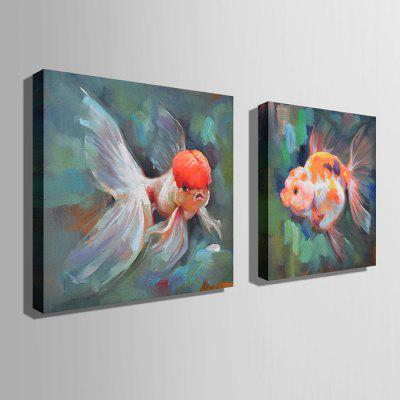 E - HOME Hand-drawn Goldfish Oil PaintingOil Paintings<br>E - HOME Hand-drawn Goldfish Oil Painting<br><br>Brand: E-HOME<br>Craft: Oil Painting<br>Form: One Panel<br>Material: Canvas<br>Package Contents: 1 x Oil Painting<br>Package size (L x W x H): 60.00 x 5.00 x 5.00 cm / 23.62 x 1.97 x 1.97 inches<br>Package weight: 0.4000 kg<br>Painting: Without Inner Frame<br>Product size (L x W x H): 50.00 x 50.00 x 0.20 cm / 19.69 x 19.69 x 0.08 inches<br>Product weight: 0.2000 kg<br>Shape: Square<br>Style: Modern Style<br>Subjects: Animal<br>Suitable Space: Bedroom,Cafes,Dining Room,Hallway,Hotel,Kids Room,Living Room,Office
