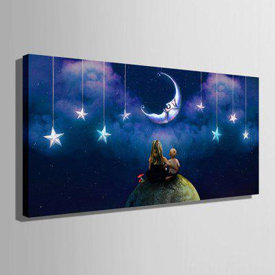 E - HOME LED Luminous Prints Moon Canvas Wall ArtPrints<br>E - HOME LED Luminous Prints Moon Canvas Wall Art<br><br>Brand: E-HOME<br>Craft: Print<br>Form: One Panel<br>Material: Canvas<br>Package Contents: 1 x Print<br>Package size (L x W x H): 35.00 x 65.00 x 6.00 cm / 13.78 x 25.59 x 2.36 inches<br>Package weight: 0.7000 kg<br>Painting: Without Inner Frame<br>Product size (L x W x H): 30.00 x 60.00 x 2.40 cm / 11.81 x 23.62 x 0.94 inches<br>Product weight: 0.5000 kg<br>Shape: Horizontal<br>Style: Modern<br>Subjects: Landscape<br>Suitable Space: Living Room