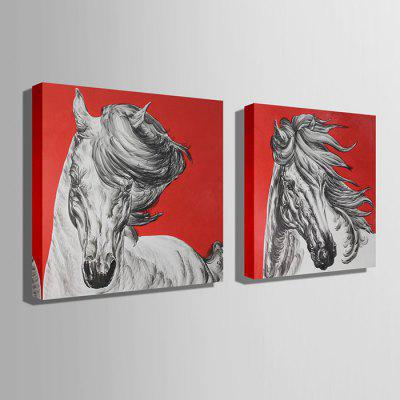 E - HOME Canvas Prints Horses Hanging Wall Art 2PCSPrints<br>E - HOME Canvas Prints Horses Hanging Wall Art 2PCS<br><br>Brand: E-HOME<br>Craft: Print<br>Form: Two Panels<br>Material: Canvas<br>Package Contents: 2 x Print<br>Package size (L x W x H): 90.00 x 5.00 x 5.00 cm / 35.43 x 1.97 x 1.97 inches<br>Package weight: 0.7000 kg<br>Painting: Without Inner Frame<br>Product size (L x W x H): 80.00 x 80.00 x 0.20 cm / 31.5 x 31.5 x 0.08 inches<br>Product weight: 0.3600 kg<br>Shape: Square<br>Style: Modern<br>Subjects: Animal<br>Suitable Space: Living Room