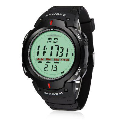 SYNOKE 61576 Men Outdoor Military Sporty Digital WatchMens Watches<br>SYNOKE 61576 Men Outdoor Military Sporty Digital Watch<br><br>Band material: PU<br>Brand: Synoke<br>Case material: ABS<br>Clasp type: Pin buckle<br>Dial size: 4.5 x 4.5 x 1.5 cm<br>Display type: Digital<br>Movement type: Digital watch<br>Package Contents: 1 x Watch<br>Package size (L x W x H): 28.00 x 6.50 x 3.50 cm / 11.02 x 2.56 x 1.38 inches<br>Package weight: 0.0802 kg<br>Product size (L x W x H): 26.00 x 4.50 x 1.50 cm / 10.24 x 1.77 x 0.59 inches<br>Product weight: 0.0602 kg<br>Shape of the dial: Round<br>Special features: Light, Date, Alarm Clock, Day, Stopwatch<br>Watch mirror: Acrylic<br>Watch style: Fashion, Cool, Military, Casual, Outdoor Sports, Trends in outdoor sports<br>Watches categories: Men<br>Water resistance: 50 meters