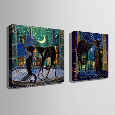 E - HOME Canvas Prints Cat Hanging Wall Art 2PCSPrints<br>E - HOME Canvas Prints Cat Hanging Wall Art 2PCS<br><br>Brand: E-HOME<br>Craft: Print<br>Form: Two Panels<br>Material: Canvas<br>Package Contents: 2 x Print<br>Package size (L x W x H): 80.00 x 5.00 x 5.00 cm / 31.5 x 1.97 x 1.97 inches<br>Package weight: 0.5400 kg<br>Painting: Without Inner Frame<br>Product size (L x W x H): 70.00 x 70.00 x 0.20 cm / 27.56 x 27.56 x 0.08 inches<br>Product weight: 0.2800 kg<br>Shape: Square<br>Style: Modern<br>Subjects: Animal<br>Suitable Space: Living Room