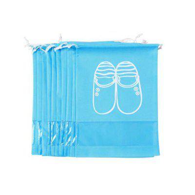 Non-woven Drawstring Travel Shoes Storage Bag 10pcsStorage Bags<br>Non-woven Drawstring Travel Shoes Storage Bag 10pcs<br><br>Functions: Home, Travel<br>Materials: Nonwoven Fabric, PVC<br>Package Contents: 10 x Storage Bag<br>Package Size(L x W x H): 46.00 x 34.00 x 5.00 cm / 18.11 x 13.39 x 1.97 inches<br>Package weight: 0.4000 kg<br>Product Size(L x W x H): 44.00 x 32.00 x 1.00 cm / 17.32 x 12.6 x 0.39 inches<br>Product weight: 0.3900 kg<br>Types: Storage Bags