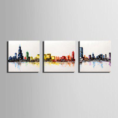 E - HOME Hand-painted Watery City Oil PaintingOil Paintings<br>E - HOME Hand-painted Watery City Oil Painting<br><br>Brand: E-HOME<br>Craft: Oil Painting<br>Form: One Panel<br>Material: Canvas<br>Package Contents: 1 x Oil Painting<br>Package size (L x W x H): 60.00 x 5.00 x 5.00 cm / 23.62 x 1.97 x 1.97 inches<br>Package weight: 0.4000 kg<br>Painting: Without Inner Frame<br>Product size (L x W x H): 50.00 x 50.00 x 0.20 cm / 19.69 x 19.69 x 0.08 inches<br>Product weight: 0.2000 kg<br>Shape: Square<br>Style: Modern Style<br>Subjects: Landscape<br>Suitable Space: Bedroom,Dining Room,Hallway,Hotel,Kids Room,Living Room,Office