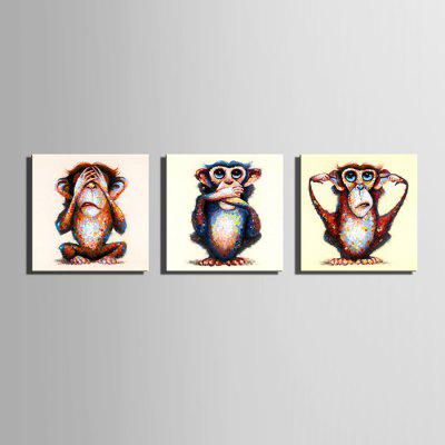 E - HOME Hand-painted Naughty Monkey Oil PaintingOil Paintings<br>E - HOME Hand-painted Naughty Monkey Oil Painting<br><br>Brand: E-HOME<br>Craft: Oil Painting<br>Form: One Panel<br>Material: Canvas<br>Package Contents: 1 x Oil Painting<br>Package size (L x W x H): 50.00 x 5.00 x 5.00 cm / 19.69 x 1.97 x 1.97 inches<br>Package weight: 0.3500 kg<br>Painting: Without Inner Frame<br>Product size (L x W x H): 40.00 x 40.00 x 0.20 cm / 15.75 x 15.75 x 0.08 inches<br>Product weight: 0.1500 kg<br>Shape: Square<br>Style: Modern Style<br>Subjects: Animal<br>Suitable Space: Bedroom,Cafes,Dining Room,Hallway,Kids Room,Living Room,Office