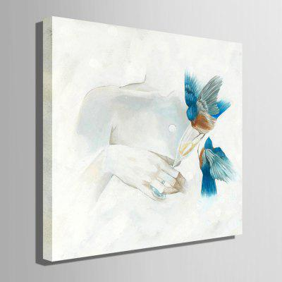 E - HOME Canvas Bird Oil Painting Hanging Wall ArtOil Paintings<br>E - HOME Canvas Bird Oil Painting Hanging Wall Art<br><br>Brand: E-HOME<br>Craft: Oil Painting<br>Form: One Panel<br>Material: Canvas<br>Package Contents: 1 x Oil Painting<br>Package size (L x W x H): 60.00 x 5.00 x 5.00 cm / 23.62 x 1.97 x 1.97 inches<br>Package weight: 0.4000 kg<br>Painting: Without Inner Frame<br>Product size (L x W x H): 50.00 x 50.00 x 0.20 cm / 19.69 x 19.69 x 0.08 inches<br>Product weight: 0.2000 kg<br>Shape: Square<br>Style: Modern<br>Subjects: Animal<br>Suitable Space: Bedroom,Cafes,Dining Room,Hotel,Living Room,Office