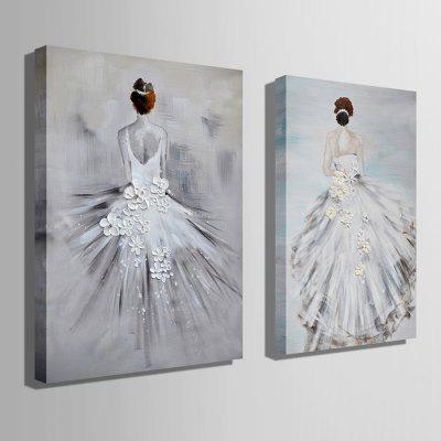 E - HOME Hand-drawn Bride Back Oil PaintingOil Paintings<br>E - HOME Hand-drawn Bride Back Oil Painting<br><br>Brand: E-HOME<br>Craft: Oil Painting<br>Form: One Panel<br>Material: Canvas<br>Package Contents: 1 x Oil Painting<br>Package size (L x W x H): 50.00 x 5.00 x 5.00 cm / 19.69 x 1.97 x 1.97 inches<br>Package weight: 0.4000 kg<br>Painting: Without Inner Frame<br>Product size (L x W x H): 40.00 x 60.00 x 0.20 cm / 15.75 x 23.62 x 0.08 inches<br>Product weight: 0.2000 kg<br>Shape: Vertical<br>Style: Modern Style<br>Subjects: Figure Painting<br>Suitable Space: Bedroom,Cafes,Dining Room,Hallway,Hotel,Kids Room,Living Room,Office