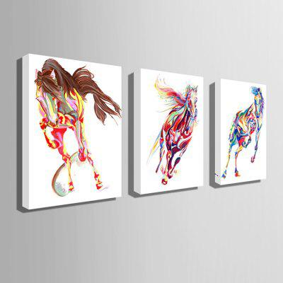 E - HOME Hand-drawn Fine Horse Oil PaintingOil Paintings<br>E - HOME Hand-drawn Fine Horse Oil Painting<br><br>Brand: E-HOME<br>Craft: Oil Painting<br>Form: One Panel<br>Material: Canvas<br>Package Contents: 1 x Oil Painting<br>Package size (L x W x H): 60.00 x 5.00 x 5.00 cm / 23.62 x 1.97 x 1.97 inches<br>Package weight: 0.4500 kg<br>Painting: Without Inner Frame<br>Product size (L x W x H): 50.00 x 70.00 x 0.20 cm / 19.69 x 27.56 x 0.08 inches<br>Product weight: 0.2500 kg<br>Shape: Vertical<br>Style: Modern Style<br>Subjects: Animal<br>Suitable Space: Bedroom,Cafes,Dining Room,Hallway,Hotel,Kids Room,Living Room,Office