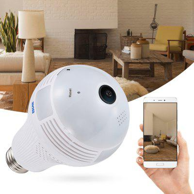 ESCAM QP136 960P WiFi IP Câmera de 360 Graus de Bulbo LED