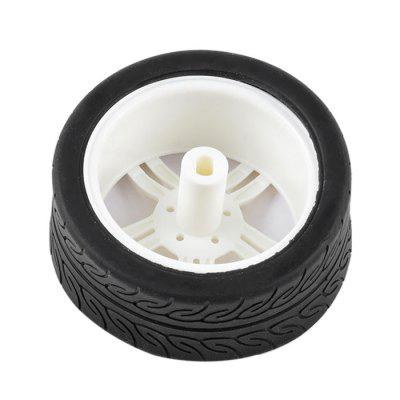 PXWG 1PJ000266 - 1 Motor Wheel for DIY 65 x 27mmOther Educational Toys<br>PXWG 1PJ000266 - 1 Motor Wheel for DIY 65 x 27mm<br><br>Age: 6 Years+<br>Applicable gender: Unisex<br>Brand: PXWG<br>Design Style: Other<br>Features: DIY<br>Gender: Unisex<br>Material: Others<br>Package Contents: 1 x Wheel<br>Package size (L x W x H): 15.50 x 10.00 x 3.00 cm / 6.1 x 3.94 x 1.18 inches<br>Package weight: 0.0450 kg<br>Product size (L x W x H): 6.50 x 2.70 x 1.00 cm / 2.56 x 1.06 x 0.39 inches<br>Product weight: 0.0400 kg<br>Small Parts: No<br>Type: Intelligence toys<br>Washing: Yes