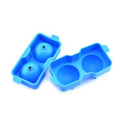 Ice Cube Container with Lid Ball-shaped Silicone Stackable Mold