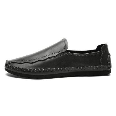 Men Stylish Soft Lustrous Casual Flat Driving LoafersFlats &amp; Loafers<br>Men Stylish Soft Lustrous Casual Flat Driving Loafers<br><br>Closure Type: Slip-On<br>Contents: 1 x Pair of Shoes, 1 x Box<br>Function: Slip Resistant<br>Lining Material: Mesh<br>Materials: Microfiber Leather, Rubber, Mesh<br>Occasion: Tea Party, Shopping, Office, Holiday, Casual, Party, Daily, Dress, Formal<br>Outsole Material: Rubber<br>Package Size ( L x W x H ): 30.00 x 20.00 x 10.00 cm / 11.81 x 7.87 x 3.94 inches<br>Package weight: 0.6500 kg<br>Pattern Type: Solid<br>Product weight: 0.6000 kg<br>Seasons: Autumn,Spring<br>Style: Modern, Business, Casual, Comfortable, Fashion, Formal, Leisure<br>Toe Shape: Round Toe<br>Type: Flat Shoes<br>Upper Material: Microfiber Leather