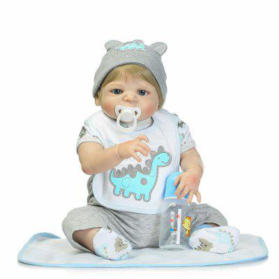 NPK Silicone Golden Hair Reborn Baby Doll Toy Gift