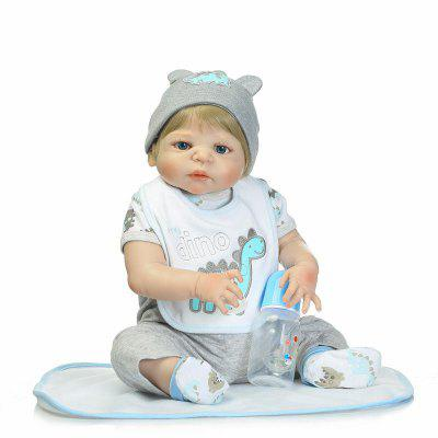 Silicone Golden Hair Reborn Baby Doll Toy GiftStuffed Cartoon Toys<br>Silicone Golden Hair Reborn Baby Doll Toy Gift<br><br>Features: Sleep Helping, Soft<br>Materials: Silica Gel<br>Package Contents: 1 x Doll Toy, 1 x Nipple, 1 x Bottle, 1 x Mat<br>Package size: 55.00 x 22.50 x 15.00 cm / 21.65 x 8.86 x 5.91 inches<br>Package weight: 1.9000 kg<br>Product size: 55.00 x 25.50 x 5.50 cm / 21.65 x 10.04 x 2.17 inches<br>Product weight: 1.6000 kg<br>Series: Reborn Doll<br>Theme: Baby Doll