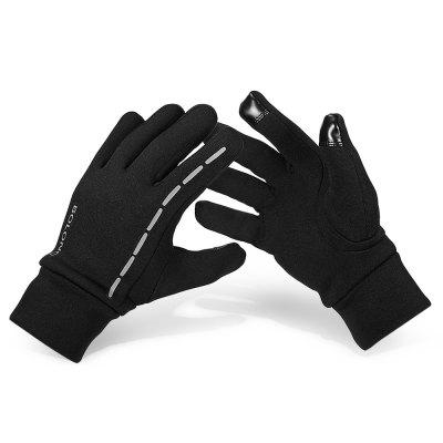 Pair of Full-finger Warm-keeping Touch Screen Gloves