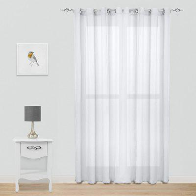 Translucent Window Curtain for Bedroom with Eyelets 2pcs
