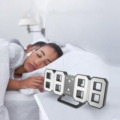 3D LED Digital Alarm Clock Night LightNight Lights<br>3D LED Digital Alarm Clock Night Light<br><br>Body Material: ABS<br>Is Dimmable: Yes<br>Package Contents: 1 x Large 3D LED Digital Wall Clock Alarm Clock , 1 x 1M USB Cable , 1 x Full English Manual , 1 x Original Color Gift Packaging<br>Package Size(L x W x H): 22.00 x 3.00 x 9.50 cm / 8.66 x 1.18 x 3.74 inches<br>Package weight: 0.2800 kg<br>Power Source: DC<br>Product Size(L x W x H): 21.50 x 2.50 x 8.70 cm / 8.46 x 0.98 x 3.43 inches<br>Product weight: 0.2320 kg