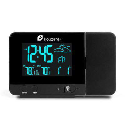 Houzetek 3531B Projection ClockWeather Station<br>Houzetek 3531B Projection Clock<br><br>Brand: Houzetek<br>Package Contents: 1 x Projection Alarm Clock, 1 x Sensor, 1 x Power Adapter, 1 x English User Manual, 1 x Thank You Card<br>Package size (L x W x H): 16.30 x 9.00 x 12.50 cm / 6.42 x 3.54 x 4.92 inches<br>Package weight: 0.3860 kg<br>Product size (L x W x H): 13.50 x 8.00 x 2.60 cm / 5.31 x 3.15 x 1.02 inches<br>Product weight: 0.1880 kg