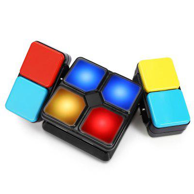 Infinity Fidget Action Cube Game with Music LightMagic Tricks<br>Infinity Fidget Action Cube Game with Music Light<br><br>Age: Above 8 year-old<br>Difficulty: Square<br>Material: ABS<br>Package Contents: 1 x Flipslide Game, 1 x English  Instruction Manual<br>Package size (L x W x H): 15.40 x 7.60 x 5.00 cm / 6.06 x 2.99 x 1.97 inches<br>Package weight: 0.2280 kg<br>Product size (L x W x H): 15.40 x 7.60 x 4.70 cm / 6.06 x 2.99 x 1.85 inches<br>Product weight: 0.2200 kg<br>Type: Magic Cubes