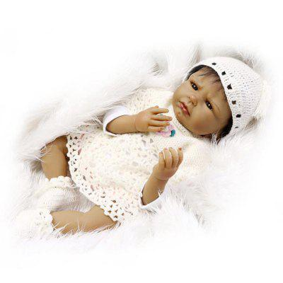 Simulation Soft Silicone Black Skin Baby Doll ToyStuffed Cartoon Toys<br>Simulation Soft Silicone Black Skin Baby Doll Toy<br><br>Features: Sleep Helping, Soft<br>Materials: Silica Gel<br>Package Contents: 1 x Doll Toy, 1 x Nipple, 1 x Mat<br>Package size: 25.50 x 15.50 x 48.00 cm / 10.04 x 6.1 x 18.9 inches<br>Package weight: 1.8000 kg<br>Product size: 55.00 x 25.00 x 15.00 cm / 21.65 x 9.84 x 5.91 inches<br>Product weight: 1.5000 kg<br>Series: Reborn Doll<br>Theme: Baby Doll