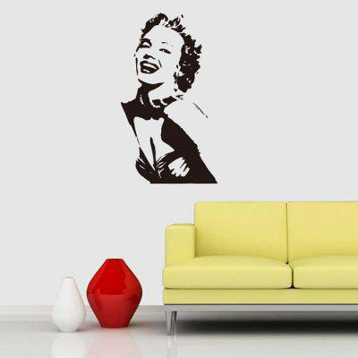 DIY Classic Sexy Design Wall Sticker Removable PVC Decal removable sexy hair spa female face sticker art decor mural design for indroom decoration