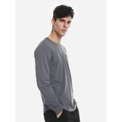 Crew Neck Long Sleeve T ShirtMens Long Sleeves Tees<br>Crew Neck Long Sleeve T Shirt<br>